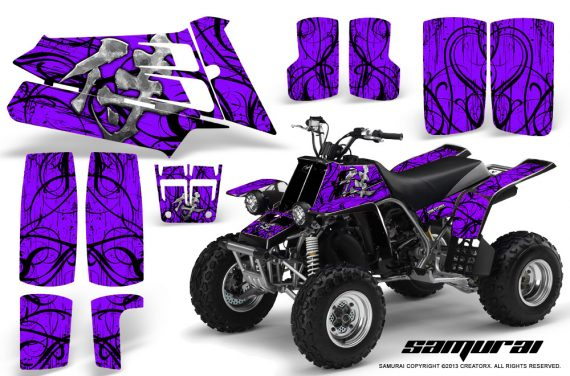 YAMAHA Banshee 350 CreatorX Graphics Kit Samurai Purple 570x376 - Yamaha Banshee 350 Graphics
