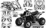 YAMAHA Banshee 350 CreatorX Graphics Kit Samurai White BB 150x90 - Yamaha Banshee 350 Graphics