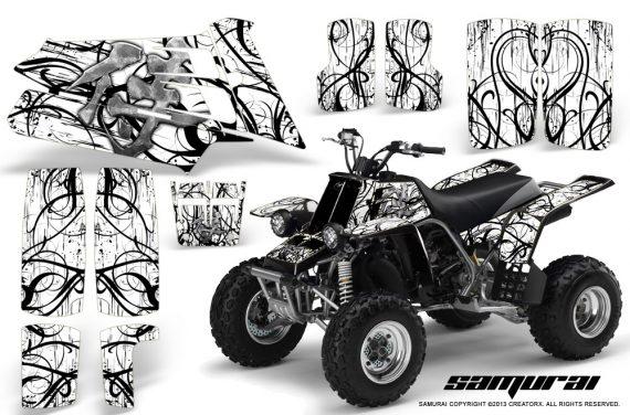 YAMAHA Banshee 350 CreatorX Graphics Kit Samurai White BB 570x376 - Yamaha Banshee 350 Graphics