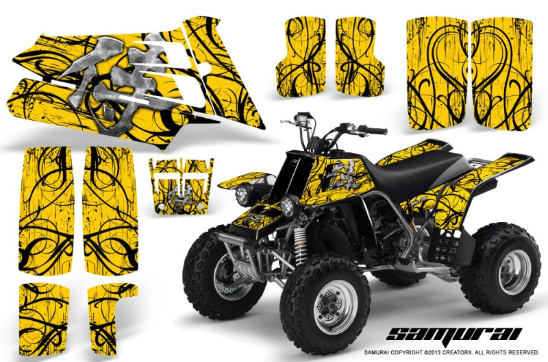 YAMAHA-Banshee-350-CreatorX-Graphics-Kit-Samurai-Yellow-BB
