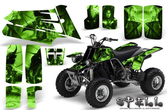 YAMAHA Banshee 350 CreatorX Graphics Kit Spell Green BB 570x376 - Yamaha Banshee 350 Graphics