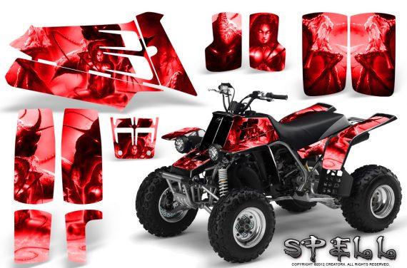 YAMAHA Banshee 350 CreatorX Graphics Kit Spell Red BB 570x376 - Yamaha Banshee 350 Graphics