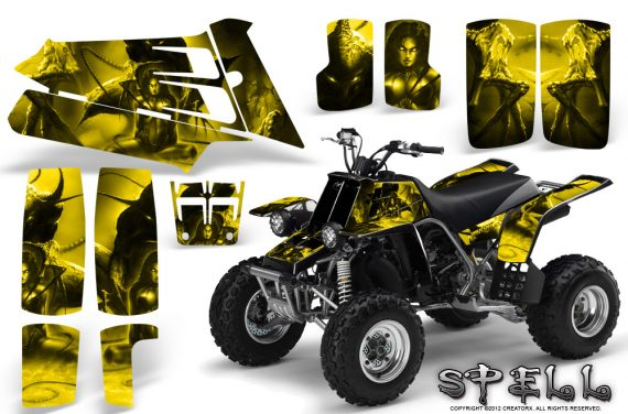 YAMAHA Banshee 350 CreatorX Graphics Kit Spell Yellow BB 570x376 - Yamaha Banshee 350 Graphics