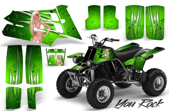 YAMAHA Banshee 350 CreatorX Graphics Kit You Rock Green 570x376 - Yamaha Banshee 350 Graphics