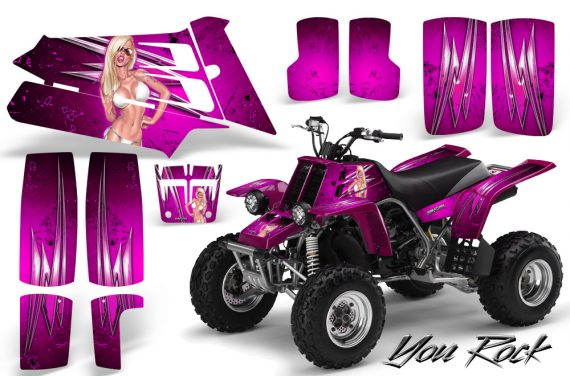 YAMAHA Banshee 350 CreatorX Graphics Kit You Rock Pink 570x376 - Yamaha Banshee 350 Graphics