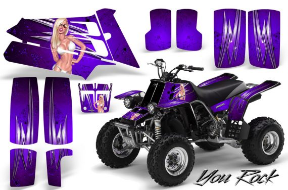YAMAHA Banshee 350 CreatorX Graphics Kit You Rock Purple 570x376 - Yamaha Banshee 350 Graphics