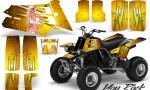 YAMAHA Banshee 350 CreatorX Graphics Kit You Rock Yellow BB 150x90 - Yamaha Banshee 350 Graphics