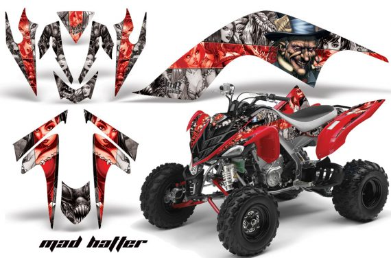 YAMAHA Raptor 700 AMR Graphics MadHatter Silver Redstripe JPG 570x376 - Yamaha Raptor 700 2006-2012 Graphics