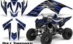YAMAHA Raptor 700 CreatorX Graphics Kit Bolt Thrower Blue BB 150x90 - Yamaha Raptor 700 2006-2012 Graphics