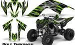 YAMAHA Raptor 700 CreatorX Graphics Kit Bolt Thrower Green 150x90 - Yamaha Raptor 700 2006-2012 Graphics