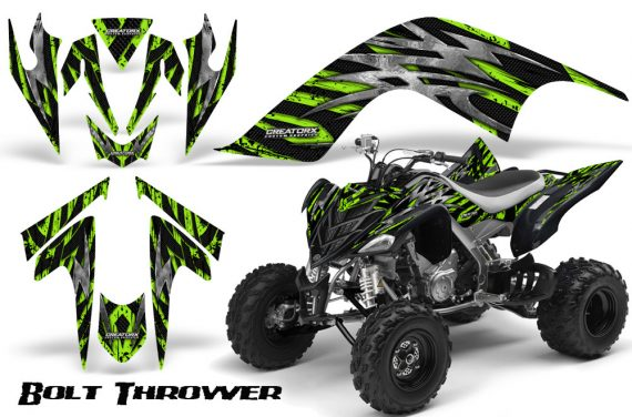 YAMAHA Raptor 700 CreatorX Graphics Kit Bolt Thrower Green 570x376 - Yamaha Raptor 700 2006-2012 Graphics