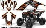 YAMAHA Raptor 700 CreatorX Graphics Kit Bolt Thrower Orange 150x90 - Yamaha Raptor 700 2006-2012 Graphics