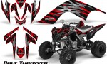 YAMAHA Raptor 700 CreatorX Graphics Kit Bolt Thrower Red BB 150x90 - Yamaha Raptor 700 2006-2012 Graphics
