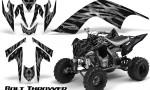 YAMAHA Raptor 700 CreatorX Graphics Kit Bolt Thrower Silver BB 150x90 - Yamaha Raptor 700 2006-2012 Graphics