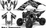 YAMAHA Raptor 700 CreatorX Graphics Kit Bolt Thrower White 150x90 - Yamaha Raptor 700 2006-2012 Graphics