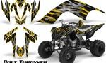 YAMAHA Raptor 700 CreatorX Graphics Kit Bolt Thrower Yellow 150x90 - Yamaha Raptor 700 2006-2012 Graphics