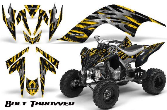 YAMAHA Raptor 700 CreatorX Graphics Kit Bolt Thrower Yellow 570x376 - Yamaha Raptor 700 2006-2012 Graphics