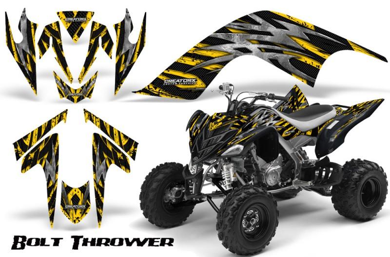 YAMAHA-Raptor-700-CreatorX-Graphics-Kit-Bolt-Thrower-Yellow