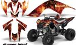 YAMAHA Raptor 700 CreatorX Graphics Kit DragonBlast Black 150x90 - Yamaha Raptor 700 2006-2012 Graphics