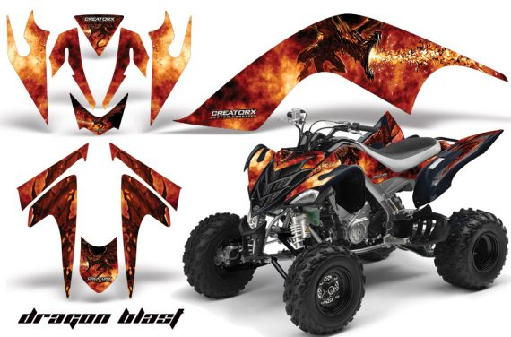 YAMAHA Raptor 700 CreatorX Graphics Kit DragonBlast Black 570x376 - Yamaha Raptor 700 2006-2012 Graphics