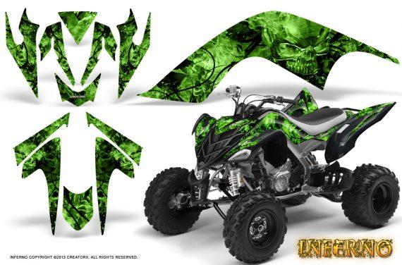 YAMAHA Raptor 700 CreatorX Graphics Kit Inferno Green 570x376 - Yamaha Raptor 700 2006-2012 Graphics