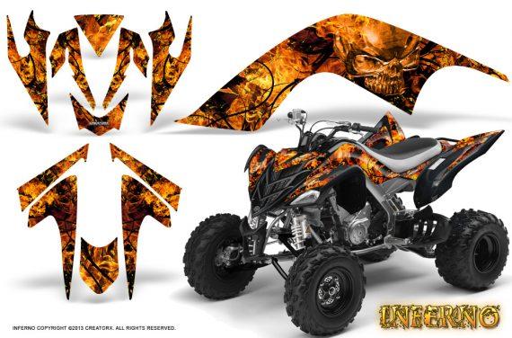 YAMAHA Raptor 700 CreatorX Graphics Kit Inferno Orange 570x376 - Yamaha Raptor 700 2006-2012 Graphics