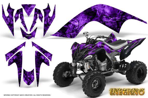 YAMAHA Raptor 700 CreatorX Graphics Kit Inferno Purple 570x376 - Yamaha Raptor 700 2006-2012 Graphics