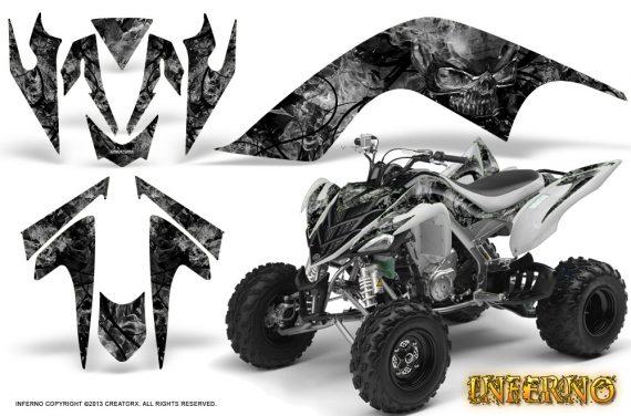 YAMAHA Raptor 700 CreatorX Graphics Kit Inferno Silver WB 570x376 - Yamaha Raptor 700 2006-2012 Graphics