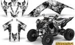 YAMAHA Raptor 700 CreatorX Graphics Kit Inferno White BB 150x90 - Yamaha Raptor 700 2006-2012 Graphics