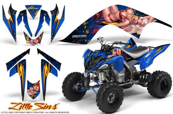 YAMAHA Raptor 700 CreatorX Graphics Kit Little Sins Blue 570x376 - Yamaha Raptor 700 2006-2012 Graphics