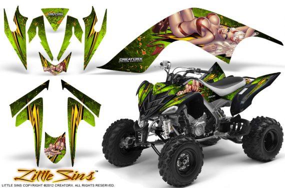 YAMAHA Raptor 700 CreatorX Graphics Kit Little Sins Green 570x376 - Yamaha Raptor 700 2006-2012 Graphics