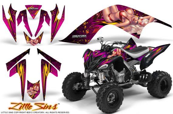 YAMAHA Raptor 700 CreatorX Graphics Kit Little Sins Pink 570x376 - Yamaha Raptor 700 2006-2012 Graphics