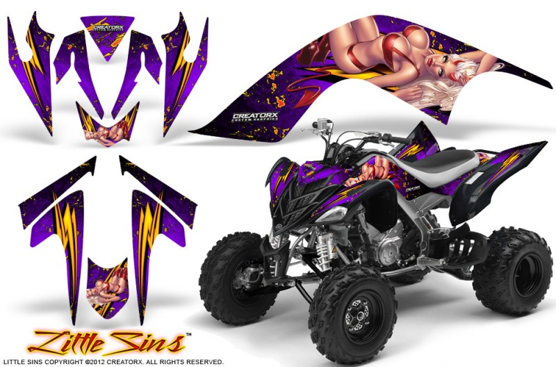 YAMAHA-Raptor-700-CreatorX-Graphics-Kit-Little-Sins-Purple