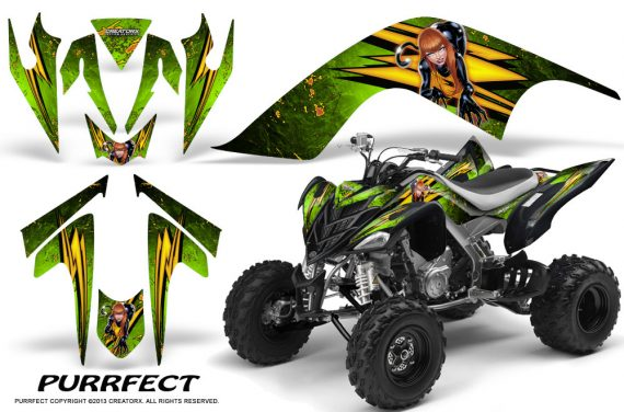 YAMAHA Raptor 700 CreatorX Graphics Kit Purrfect Green 570x376 - Yamaha Raptor 700 2006-2012 Graphics