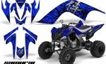 YAMAHA Raptor 700 CreatorX Graphics Kit Samurai Black Blue 150x90 - Yamaha Raptor 700 2006-2012 Graphics