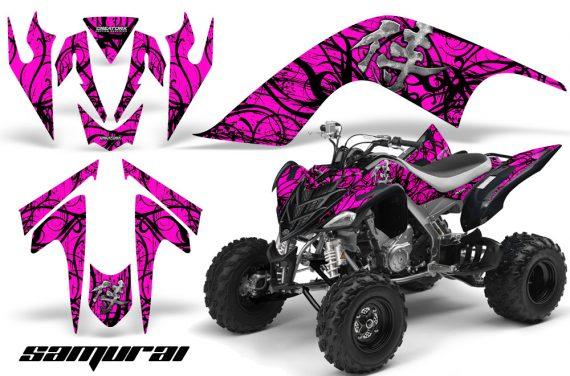YAMAHA Raptor 700 CreatorX Graphics Kit Samurai Black Pink 570x376 - Yamaha Raptor 700 2006-2012 Graphics