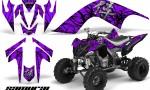 YAMAHA Raptor 700 CreatorX Graphics Kit Samurai Black Purple 150x90 - Yamaha Raptor 700 2006-2012 Graphics