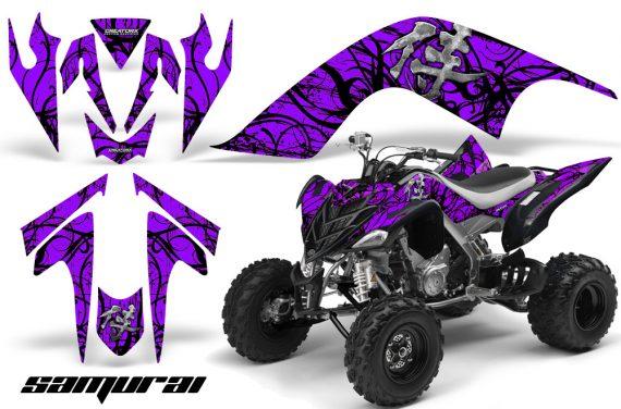 YAMAHA Raptor 700 CreatorX Graphics Kit Samurai Black Purple 570x376 - Yamaha Raptor 700 2006-2012 Graphics