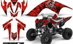 YAMAHA Raptor 700 CreatorX Graphics Kit Samurai Black Red 150x90 - Yamaha Raptor 700 2006-2012 Graphics