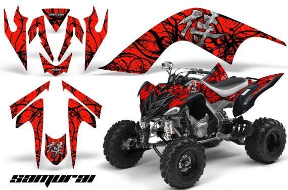 YAMAHA Raptor 700 CreatorX Graphics Kit Samurai Black Red 570x376 - Yamaha Raptor 700 2006-2012 Graphics