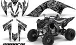 YAMAHA Raptor 700 CreatorX Graphics Kit Samurai Black Silver 150x90 - Yamaha Raptor 700 2006-2012 Graphics