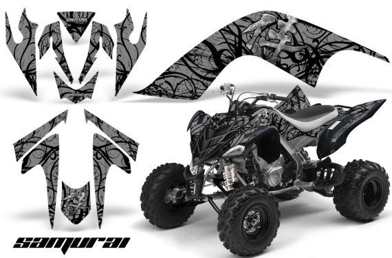 YAMAHA Raptor 700 CreatorX Graphics Kit Samurai Black Silver 570x376 - Yamaha Raptor 700 2006-2012 Graphics