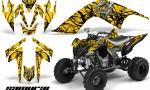 YAMAHA Raptor 700 CreatorX Graphics Kit Samurai Black Yellow 150x90 - Yamaha Raptor 700 2006-2012 Graphics