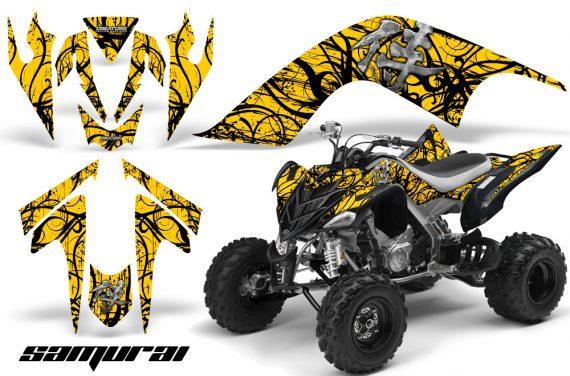 YAMAHA Raptor 700 CreatorX Graphics Kit Samurai Black Yellow 570x376 - Yamaha Raptor 700 2006-2012 Graphics