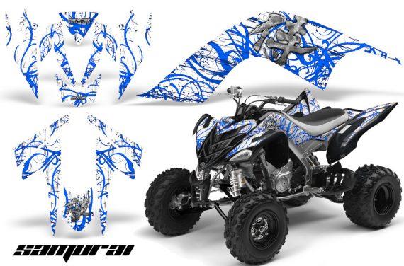 YAMAHA Raptor 700 CreatorX Graphics Kit Samurai Blue White 570x376 - Yamaha Raptor 700 2006-2012 Graphics