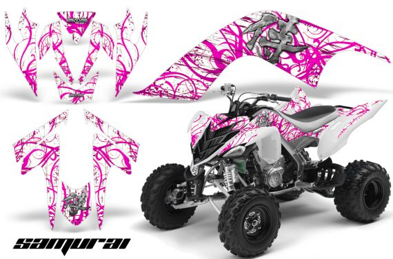 YAMAHA Raptor 700 CreatorX Graphics Kit Samurai Pink White 570x376 - Yamaha Raptor 700 2006-2012 Graphics