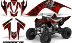 YAMAHA Raptor 700 CreatorX Graphics Kit Samurai Red Black 150x90 - Yamaha Raptor 700 2006-2012 Graphics