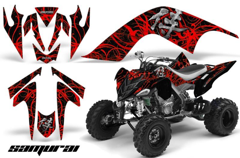 YAMAHA-Raptor-700-CreatorX-Graphics-Kit-Samurai-Red-Black