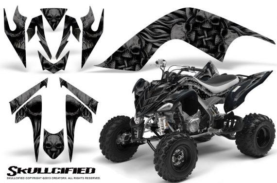 YAMAHA Raptor 700 CreatorX Graphics Kit Skullcified Black 570x376 - Yamaha Raptor 700 2006-2012 Graphics