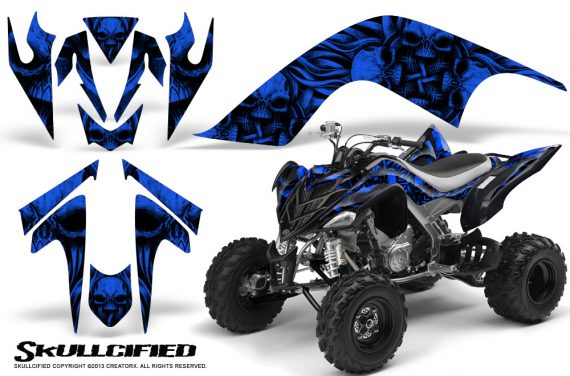 YAMAHA Raptor 700 CreatorX Graphics Kit Skullcified Blue BB 570x376 - Yamaha Raptor 700 2006-2012 Graphics